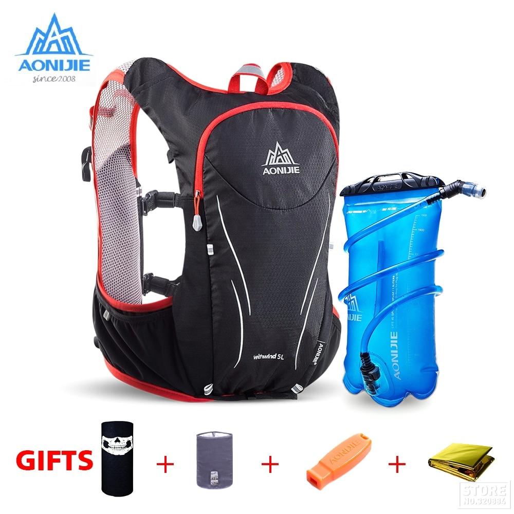 AONIJIE Sports de plein air Trail Running sac à dos 5L Marathon gilet d'hydratation Pack pour 1.5L sac à eau Super léger vélo randonnée sac