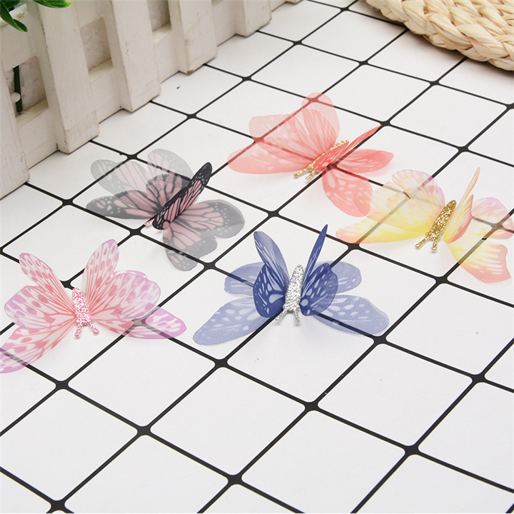 2 10PCS Colorful Butterfly For DIY Apparel Sewing & Fabric Lace Choker Necklace Women Clothing Sewing DIY Craft Supplies 30