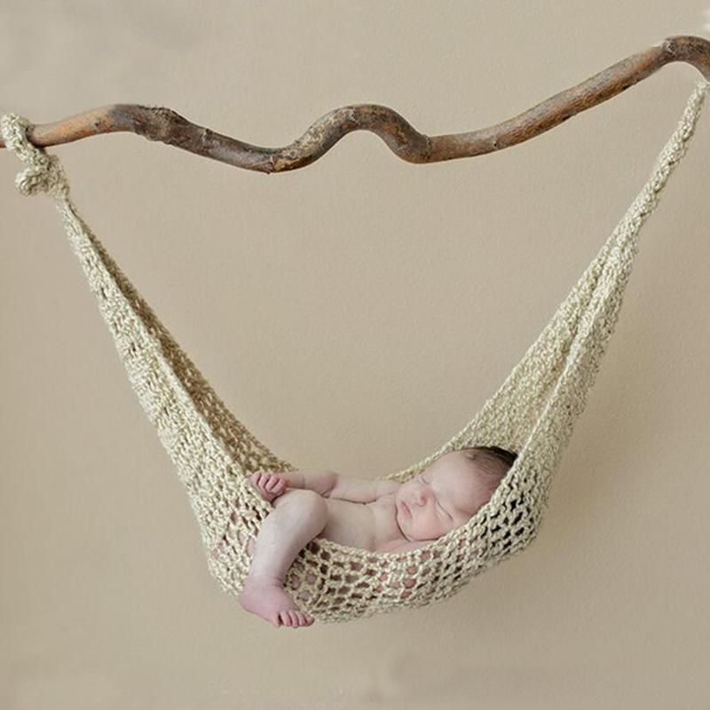 Baby knitting Hammock Indoor Sleeping Fun Handmade Knit Children Costumes Photography Photo Best Props Baby Furniture ...