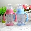 240 ml Bonito Do Bebê palha garrafa de garrafas de alimentação do bebê Recém-nascido segura Potável Garrafa Alça garrafa de leite De água Suco De Treinamento crianças copo
