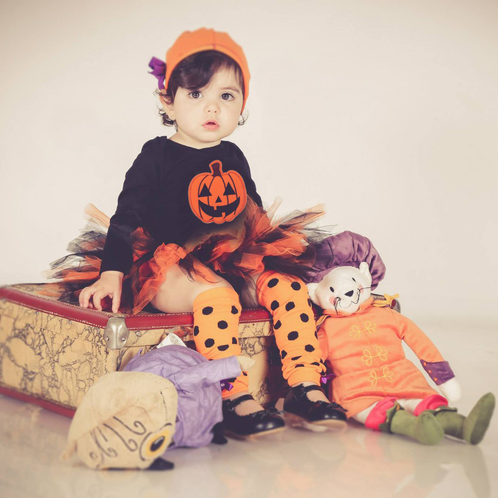 Caters Baby Girl Halloween Clothing Sets 2015 Pumpkin TUTU