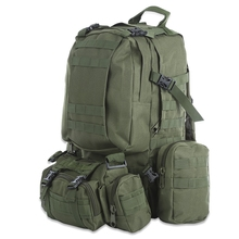 50L Multifunction Sport Bag Molle Tactical Bag Water Resistant Camouflage Backpack for Outdoor Climbing Hiking