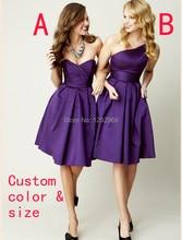 NEW Custom Color & Size !Fashion 2 style mini short bridesmaid dresses wedding dresses, Homecoming Dresses Plus Size