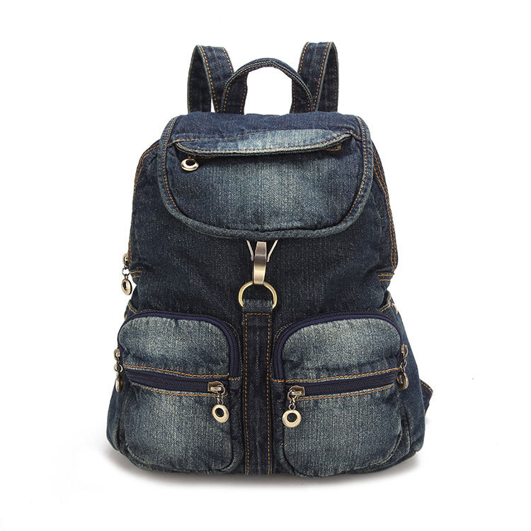New Design Women Bag Denim Backpack Preppy Style School Backpacks for Teenagers Girls Fashion Casual Travel Bags Rucksack A0284 fashion denim backpack preppy style casual shoulders double shoulder bag schoolbag style blue x 59966