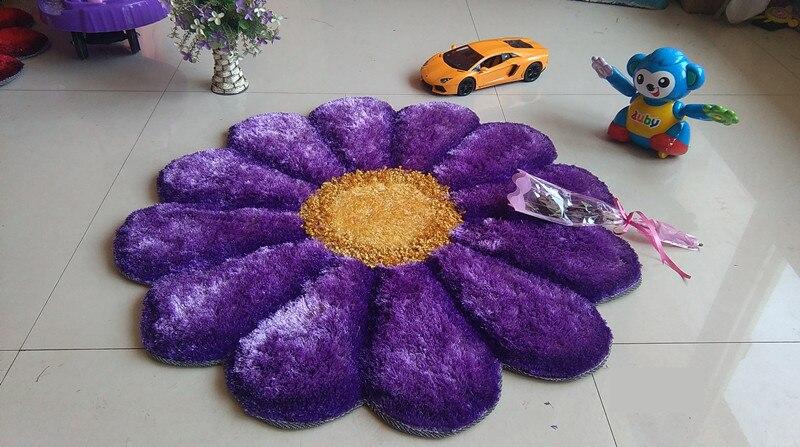90 см x 90 см, круглые 3D Цветочные ковры для гостиной, тянущиеся ковры из пряжи, коврик для двери, свадебный ковер для спальни, Декор, Alfombras