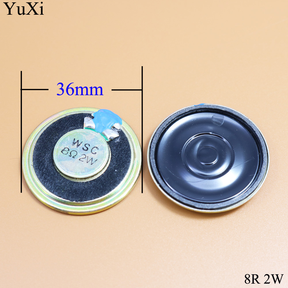 YuXi 2W Loudspeaker 36MM 8 Ohms 8R 8Ohm Mini Round Speaker Diameter Thickness 5MM Small Horn Doorbell Speaker