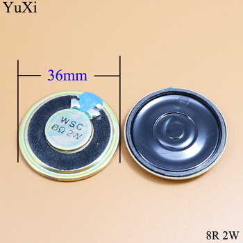 YuXi 2W Loudspeaker 36MM 8 Ohms 8R 8Ohm Mini Round Speaker Diameter Thickness 5MM Small Horn Doorbell Speaker