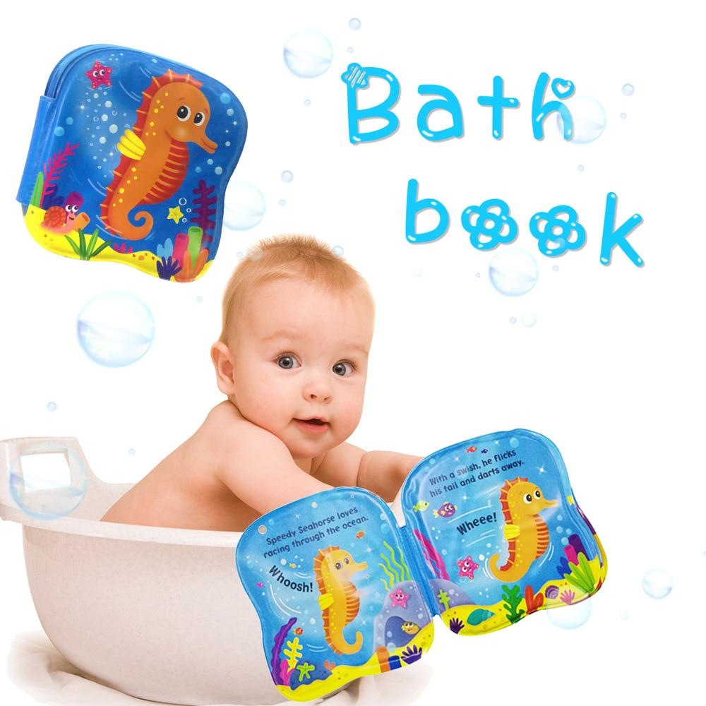 1 Pc Kreative Bad Buch Spielzeug Baby Dusche Geschenk Spielzeug Wasser Pat Pad Baby Bad Ring Matte Bildung Buch Tier Learnning Spielzeug Bad Spielzeug