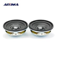 AIYIMA 2Pcs 2 אינץ אודיו רמקול 8Ohm 3W מלא טווח רמקול יחידות גומי קצה רמקול DIY מגבר קול קולנוע ביתי