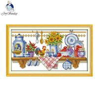 Joy Sunday The Kitchen Corner Counted Stitching 11CT 14CT DMC DIY Cross Stitch Kit For Embroidery