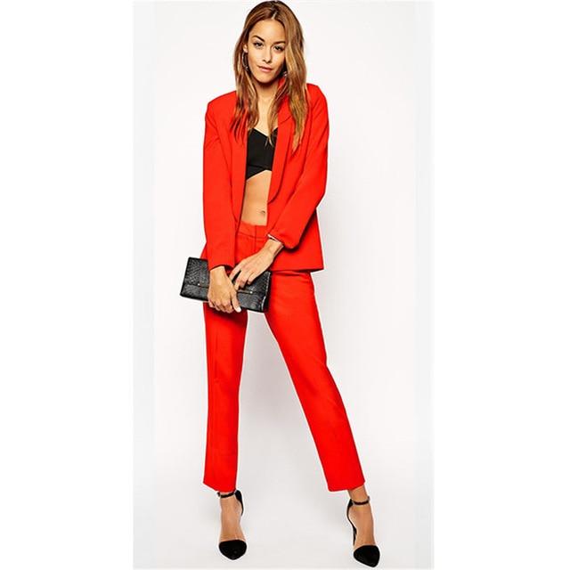 Bespoke Women Business Pants Suits Blazer Two Pieces Jacket Pants Women's Business Suits Slim Fit Female Office Uniform Workwear