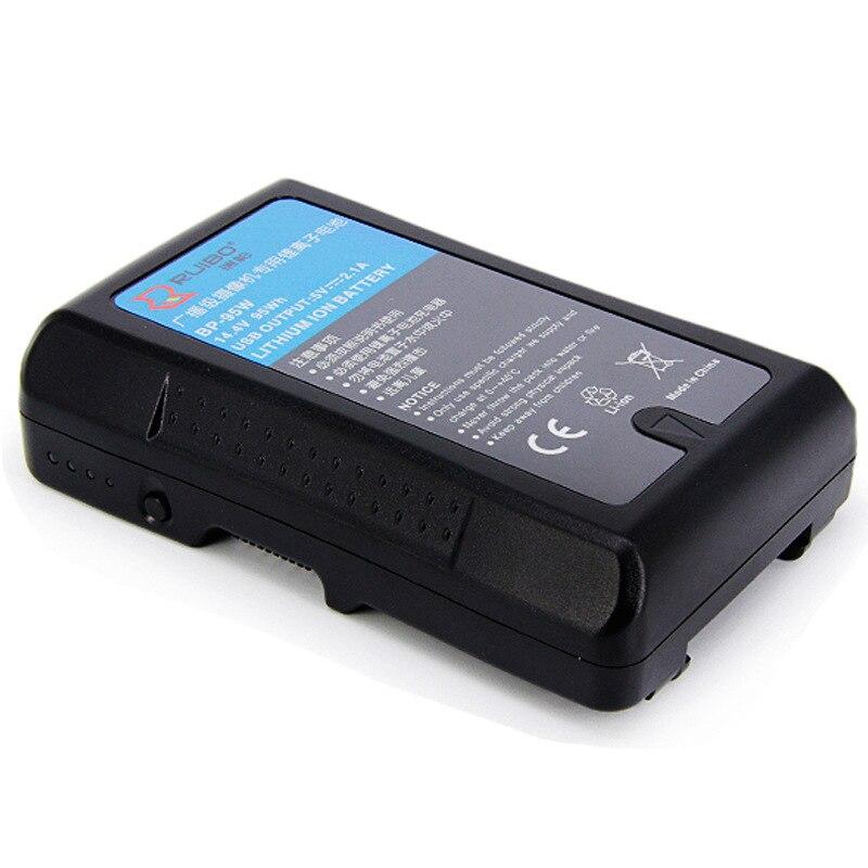 6600 mAh voor sony BP 95W Broadcast Camera Batterij Power V Poort HDW 800P DSR 250P Camcorder 14.4 V - 3