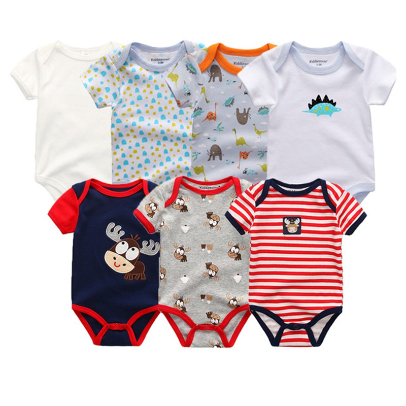HTB1DdcUgv1TBuNjy0Fjq6yjyXXa7 Top Quality 7PCS/LOT Baby Boys Girls Clothes 2019 Fashion Roupas de bebe Clothing Newborn rompers Overall baby girl jumpsuit