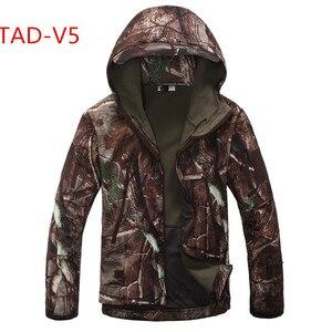 Image 3 - באיכות גבוהה lurker כריש Soft Shell TAD V 5.0 Jacket טקטי הצבאי עמיד למים Windproof צבא מפציץ מעיל בגדים