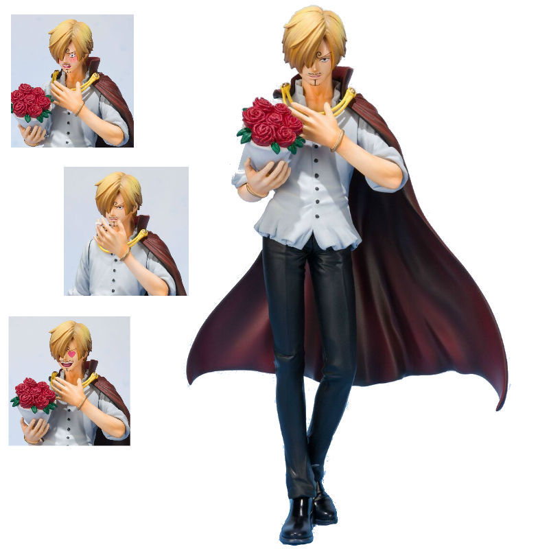 17cm One Piece Anime ZERO Vinsmoke Sanji Cake Island Rose Proposing Ver Model Collection Figure Toys