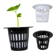 100Pcs Heavy Duty Slotted Planting Cups Mesh Pot Net Basket Hydroponic Aeroponic Container Garden Supplies for Plant Grow Clone