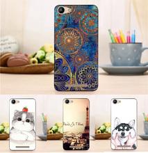 New Fashion Case For BQ BQ-5058 Strike Power Easy Flower Tower Pattern Cover for 5.0 inch BQ BQS 5058 Funda Couqe