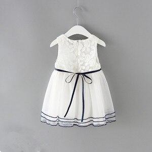 Image 2 - Neugeborene Mädchen Prinzessin Baby Kleid Kinder Hochzeit Festzug Spitze Baumwolle Kleider Ballkleid 0 2Y weiß