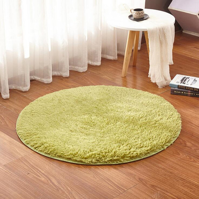 Hot Sale Solid Color Round Carpet For Living Room Large Size Shaggy