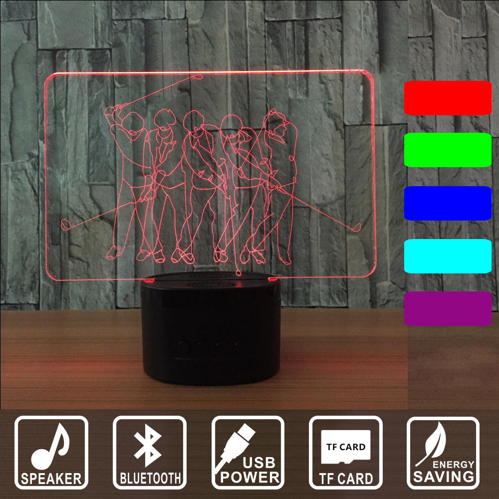 3D LED Light Sign Playing Golf Acrylic Bluetooth speaker  Home Decor Gift Bar Pub Bedroom Panels Plate Plaques  IY803014B samuel adams raise the stein pub sign