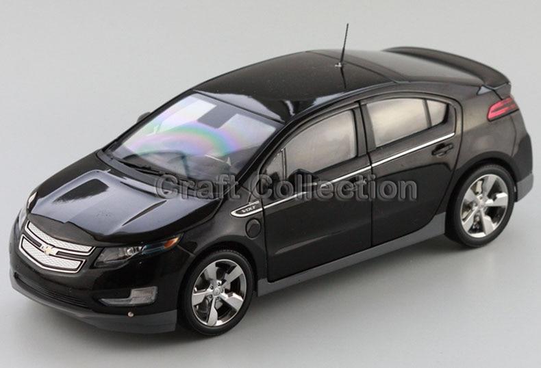 Black Chevrolet Volt 2014 Hatch Back 1 18 Diecast Model Car Kits Miniature Vehicle Simulation Limited