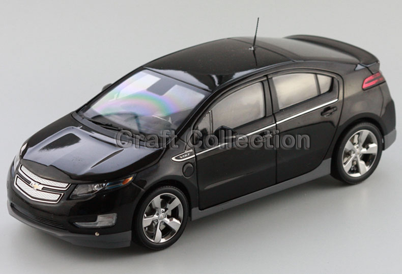 Black Chevrolet Volt 2014 Hatch Again 1:18 Diecast Mannequin Automotive Kits Miniature Automobile Simulation Restricted Version By Kyosho
