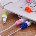 20 pc silicone protetor de cabo digital cabo protecotor luvas protetoras de táxi para iphone samsung usb cabo de carregamento de proteção