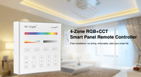 Milight B4 4 Zone RGBW RGB RGBW CCT Smart Panel Remote Controller For Led Strip Lights