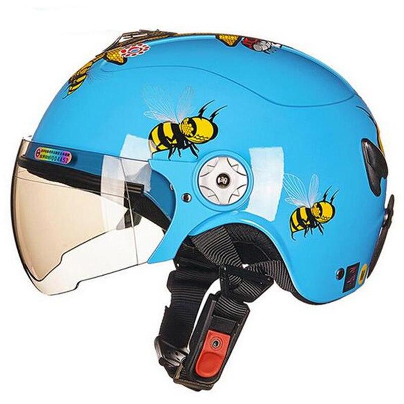 Enfants pour vélo moto casque Anti-Vibration Craniacea Crashworthy chapeaux sport enfants moto casque confortable