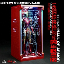 Toysbox 1/6 Hall of Armor Iron Man Dust Box TB073GN Display Case Limit Model