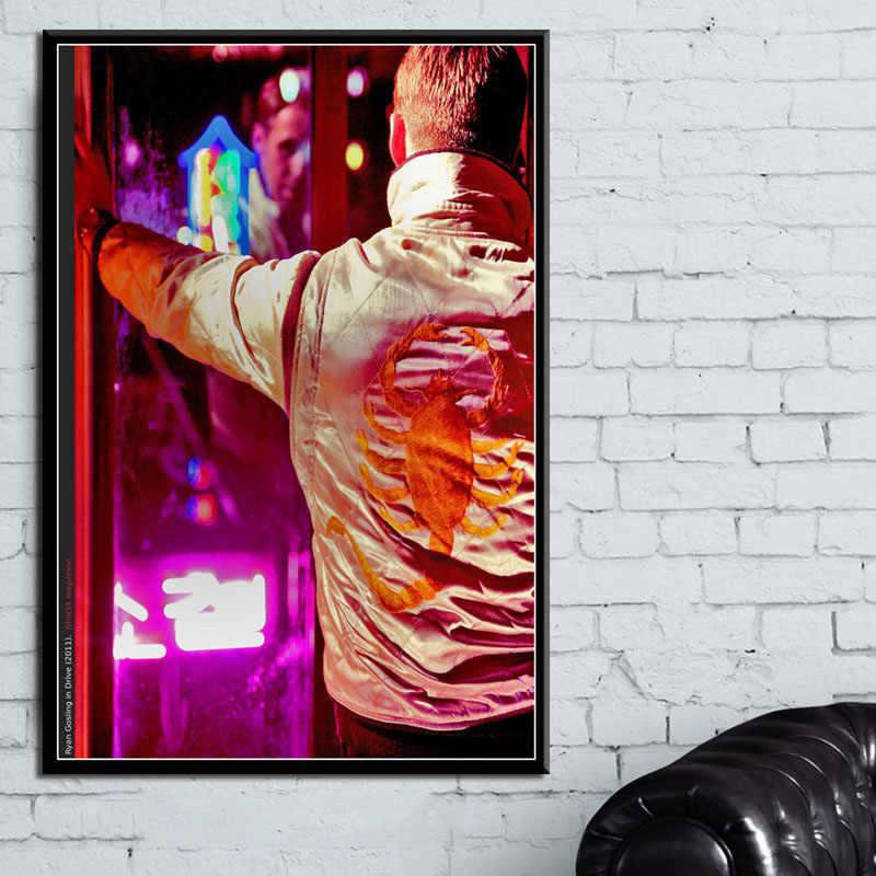 Cartazes e Cópias Drive Clássico Filme Ryan Gosling Movie Poster Retrato Da Arte Da Parede Pintura Da Lona para o Quarto Decoração de Casa