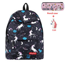 Unicorn Backpack Women Bag Fashion School Bags for Teenager Girls  Sac A Dos Travel Bag Laptop Backpack Rucksack Mochila Female hot women backpack female corduroy backpack school bag for girls rucksack female teenager travel backpack lady bookbag mochila