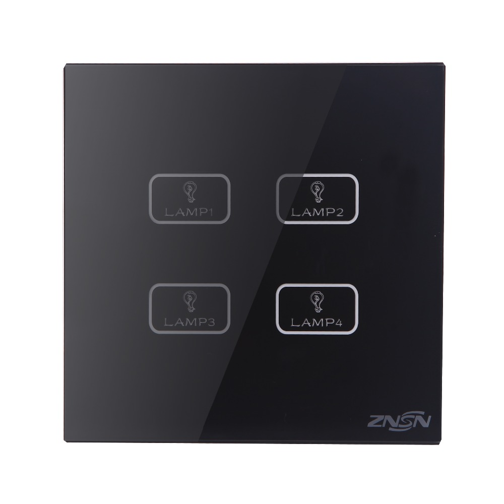 Only Live Line Black UK Standard 4 Gang 2 Way 86x86x37mm Luxury Crystal Glass Panel Wall Touch Switch 600w grid tie inverter lcd 110v pure sine wave dc to ac solar power inverter mppt 10 8v to 30v or 22v to 60v input high quality