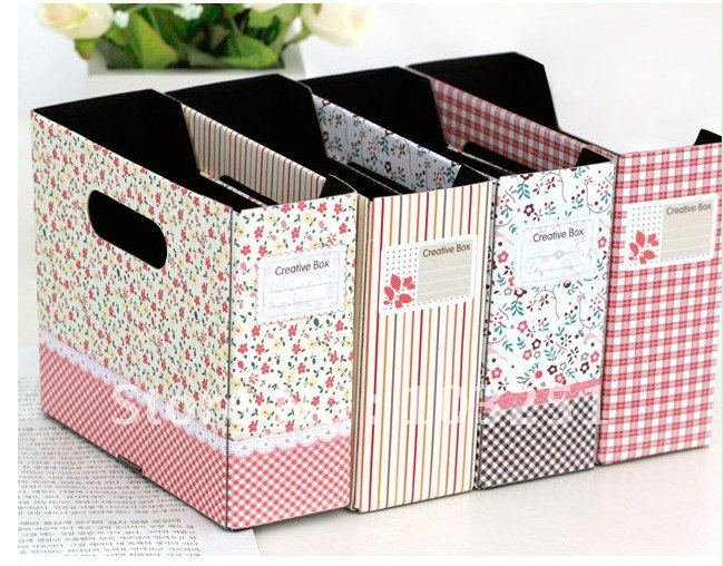 Wholesale Free shipping new home office decro storage box hanging paper DIY opp for magazine book clean up 20pcs / lot-in Desk Set from Office u0026 School ... & Wholesale Free shipping new home office decro storage box hanging ...