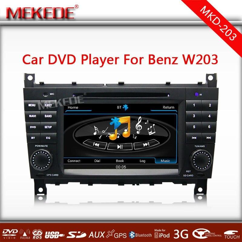 Voiture autoradio Lecteur DVD Radio Navigation GPS pour Mercedes Benz C Classe CLK W203, occasion d'occasion  Livré partout en France