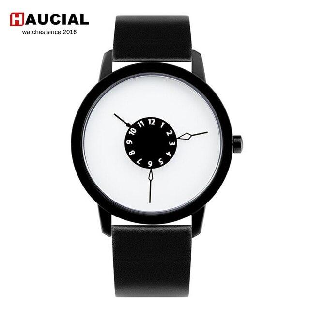 Fashion Women Watch Creative Inverted Pointer Quartz Wristwatch Men Simple Dial