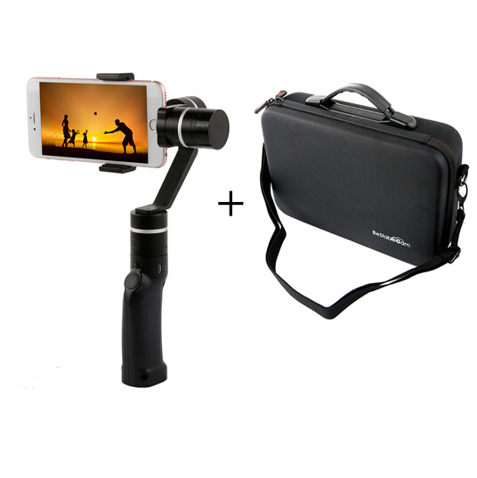 Handheld Smartphone Gimbal Stabilizer Tripod Compatible with Gopro Support Bluetooth 360 degree horizontal with Carry Case Box