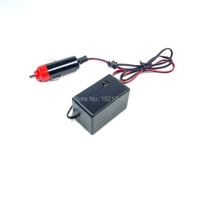 NEW Type DC-12V 15M Car Party decorative EL wire inverter Neon LED Light Driver with Cigar lighter for 4-15m EL wire or EL strip