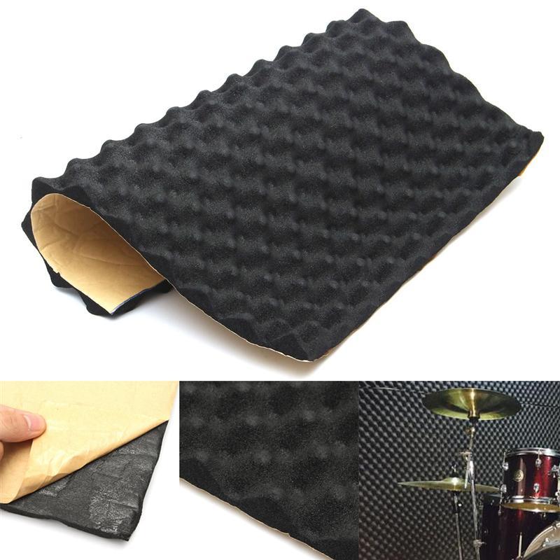 50 Amarillo 5cm 6Pcs Forma a Cuadros Absorbente de Sonido Peso Ligero Insonorizaci/ón Paneles ac/ústicos de Espuma de algod/ón Mumusuki 50