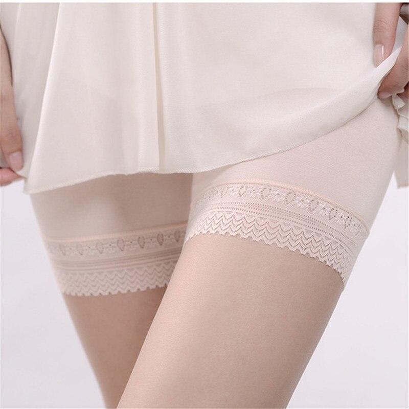 Modal Seamless Lace Short   Leggings   For Female Fashion Pants Women's Under Skirt Cotton   Leggings