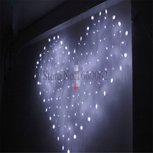 2016 Hot Selling 2M x 1.5m Heart Shape 124 SMD 34 Hearts LED String Holiday Light Christmas Wedding Decoration Curtain lights