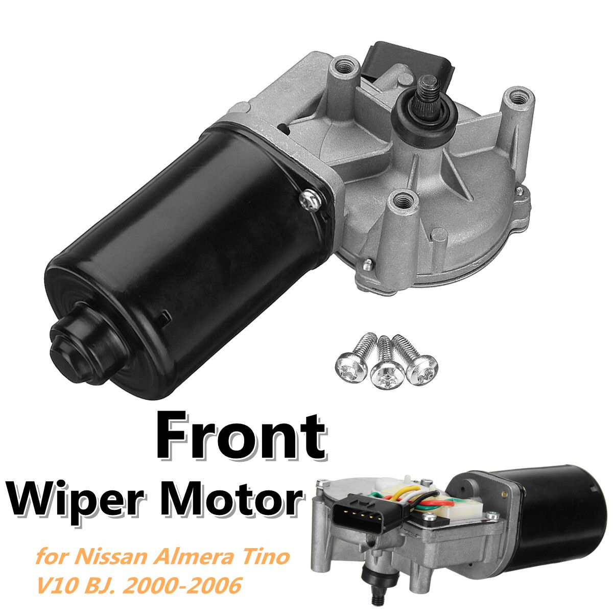 Car Front Windscreen Wiper Motor 28815-BU000 0390241373 for Nissan Almera Tino V10 1998-2006 MPV