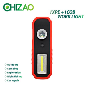 CHIZAO LED Working light with magnet COB Flood light Tent lamp Portable maintenance spotlight Camping outdoor emergency lighting