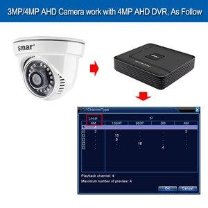 Image 5 - Smar AHD 4MP Camera An Ninh Trong Nhà Full Nhìn HD Dome 18Pcs Nano IR Led,3.6nn Ống Kính, IR Cut Năm 1/3 Inch Cảm Biến CMOS