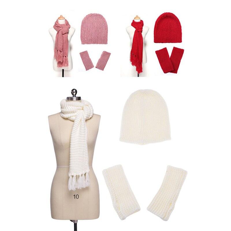 Ensemble 3 pièces bonnet, écharpe, gants 1