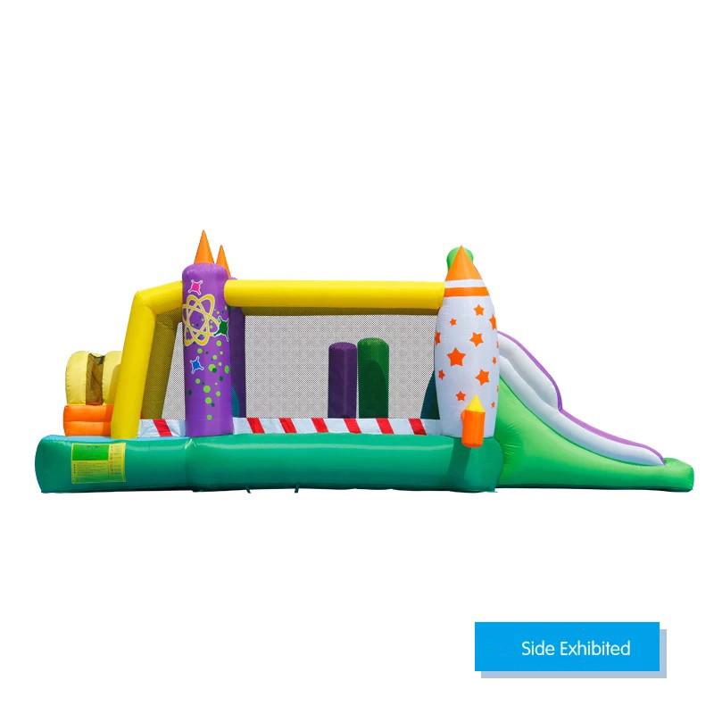 HTB1DdfZPFXXXXbyXXXXq6xXFXXXN - Mr. Fun Large Inflatable Rocket Trampoline Bounce House Castle For Kids with Double Slide Multi-function Playgound with Blower