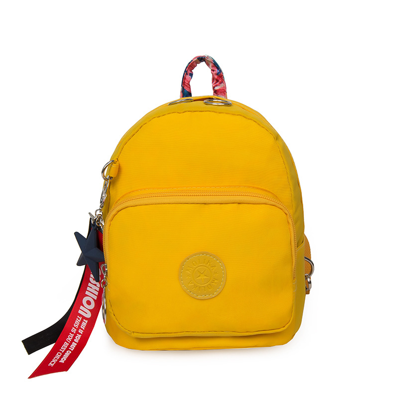 Unisex Kid's Mini Backpack Fashion Little Girl Travel Bags Letter Ribbons Yellow Boy Cute Rucksack New Waterproof Small Backpack комбинезоны little boy комбинезон трансформер