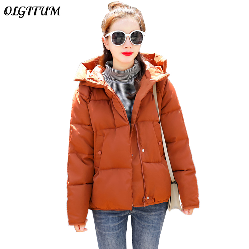 Hot Sale Winter Cotton Jacket Female Thicken Snow Lichens 2019 New Harajuku Short Sweet Down Cotton Coat Women Warm Loose Parkas