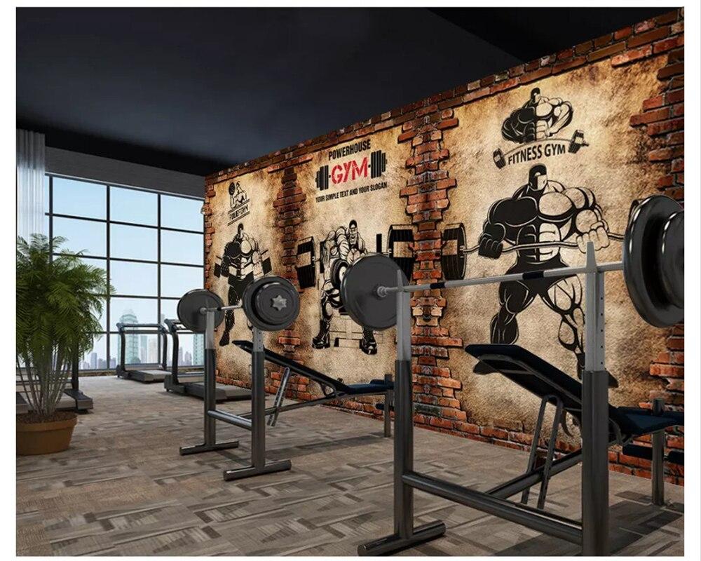 Beibehang カスタム壁紙ノスタルジックなレンガの壁レトロスポーツ
