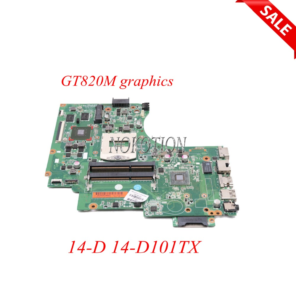 NOKOTION 755185-001 755185-501 Laptop Motherboard For HP 14-D 14-D101TX GT820M HM86 video card Main Board full tested